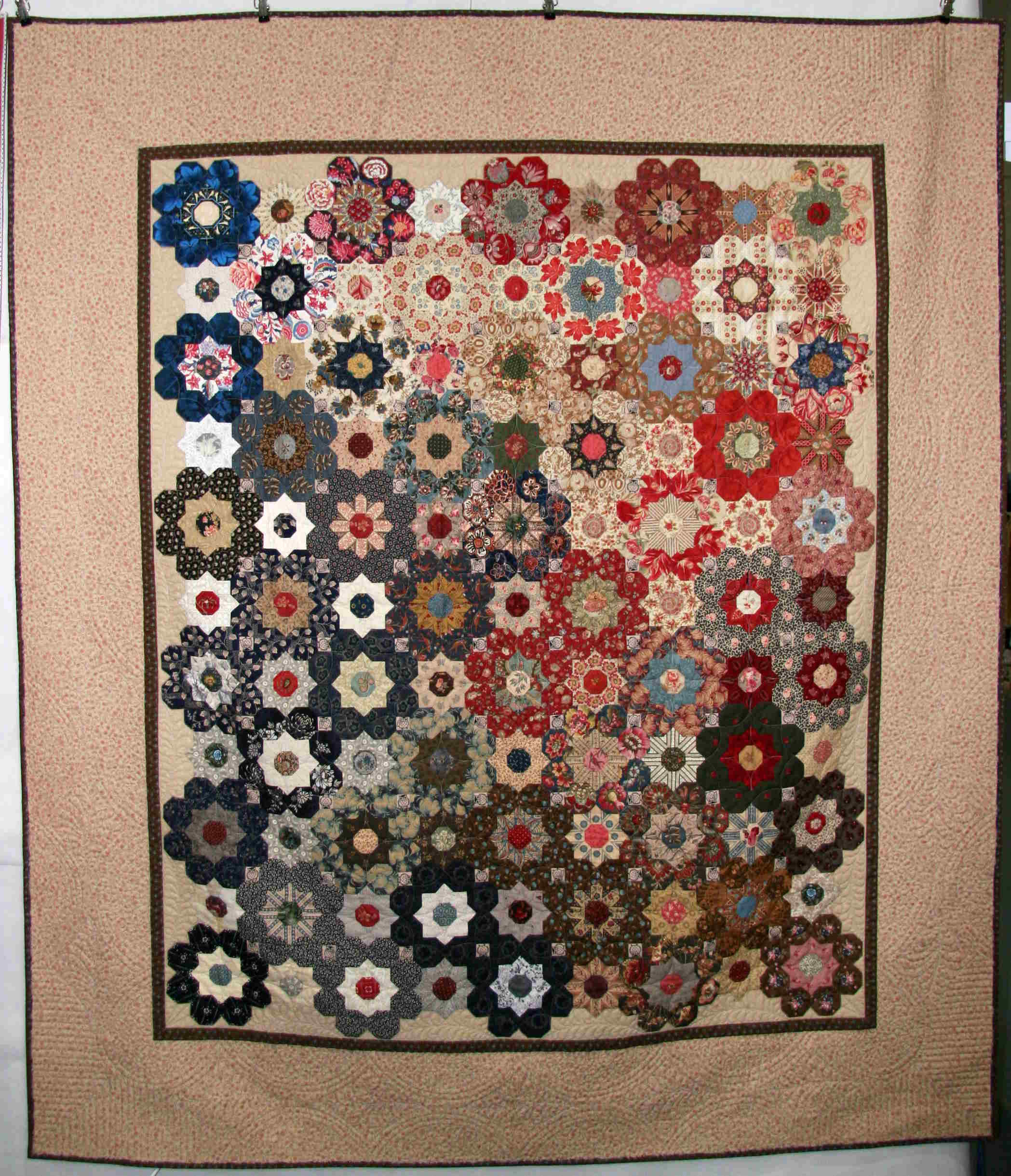 Gloria's Flower, PW Magazin 01-2015, Our Quilting no. 1