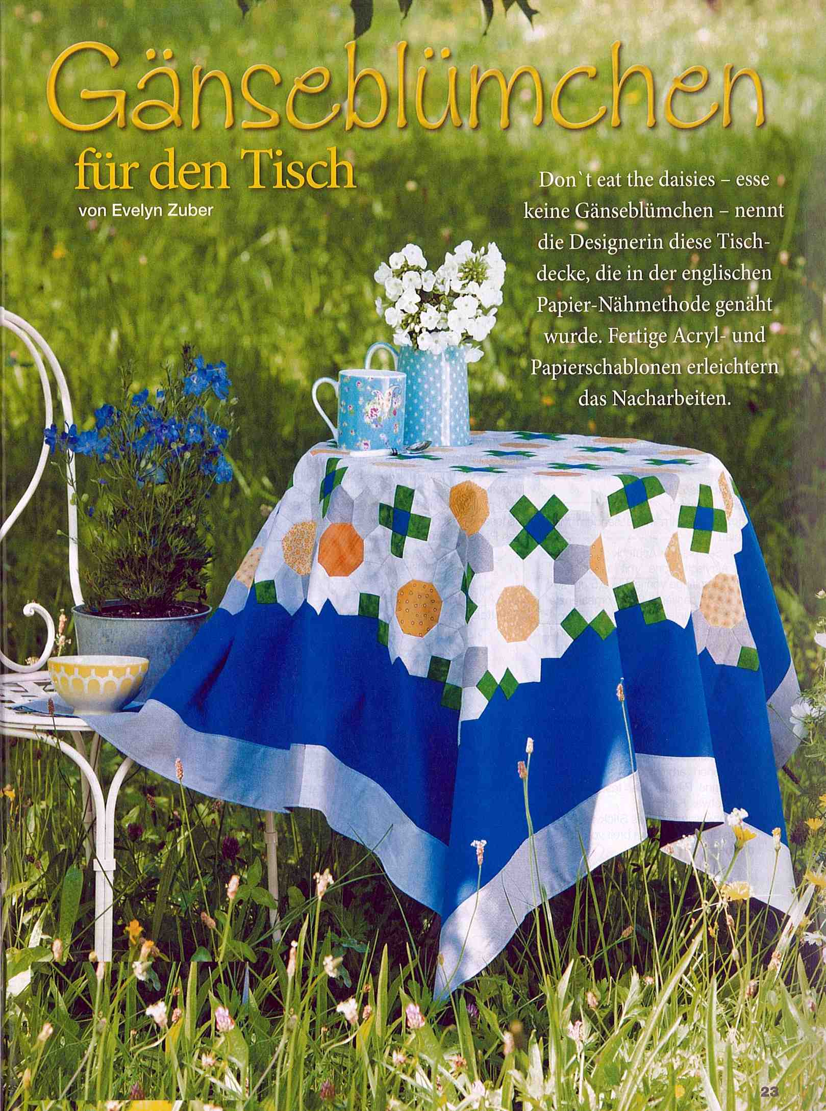 Don't eat the daisies, LENAs Patchwork No. 24/2013