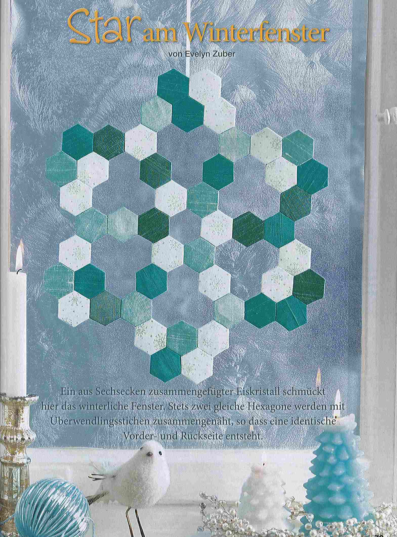 Star im Winterfenster, LENAs Patchwork Nr. 28 2013
