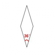 Paper Pieces Diamond, Raute 36° für 10-strahligen Stern