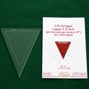 Acrylschablone 1/8 Octagon, Pretty & Useful Achteck