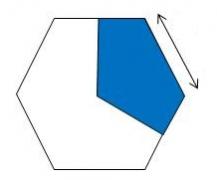 Paper Pieces Drittelhexagon
