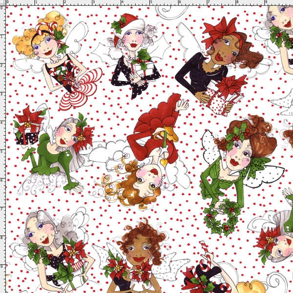 Loralie Designs - Fairy Toss white / red