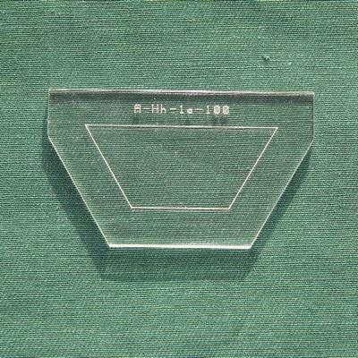 Acrylschablone Halb-Hexagon, Pretty & Useful halbes Sechseck