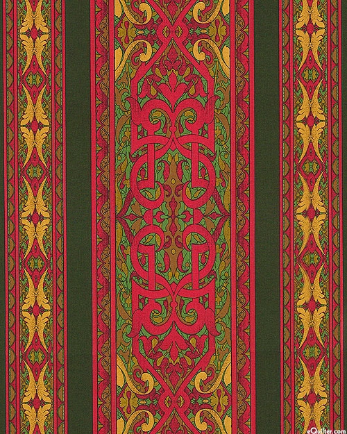 RJR Fabrics - Jinny Beyer - Miyako Stripe teal / rot