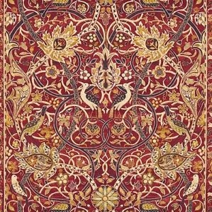 Free Spirit - William Morris - Bullerswood Damask garnet red