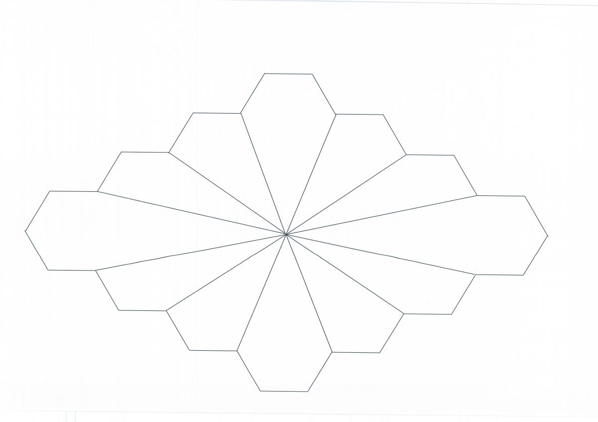 Paper-Pieces Dodecagon, 8 Blocks