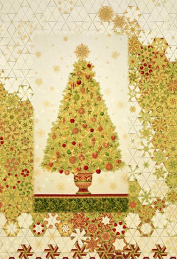 Stoffpaket: 7 Panels Winters Grandeur Tree multi-metallic von Robert Kaufmann
