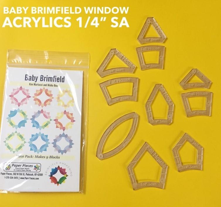Komplettset Acryl UND Paper Pieces f. 9 Blöcke Baby Brimfield Awakening ohne Kern, Durchmesser ca 17,8 m