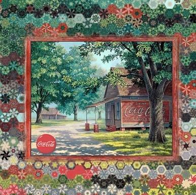 Stoffpaket: 7 Panels Coca-Cola Vintage Storefront