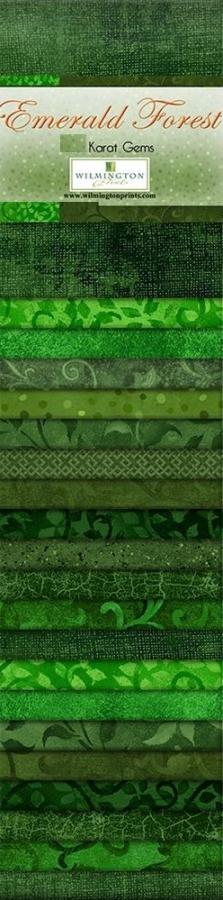 Stoff Emerald Forest 24 Streifen á 2,5 inch