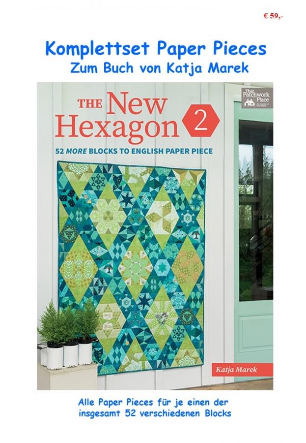 Komplettset Paper Pieces zum Buch The New Hexagon 2 von Katja Marek