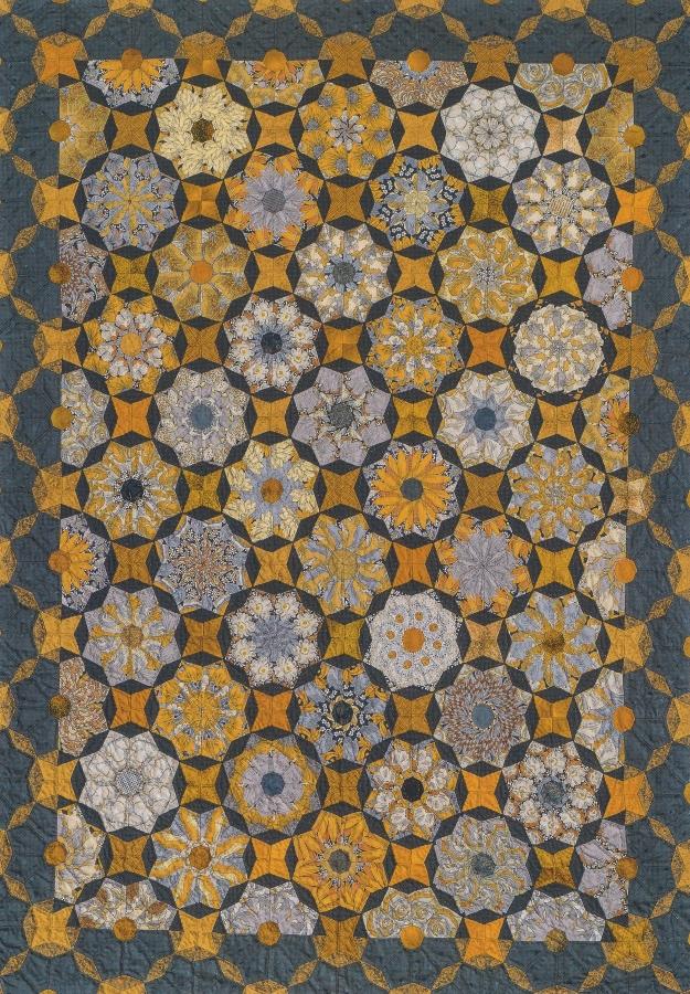 Komplettsatz Paper Pieces für den Quilt Raindrops are falling on my head aus Millefiori 4, ganzer Quilt