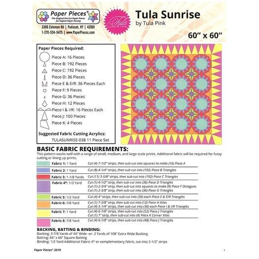 Paper Pieces zu Tula Sunrise - Komplettset