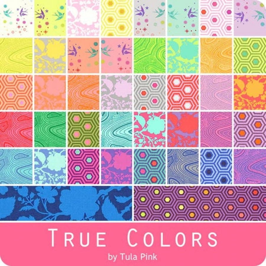 Fat Quarter Package (42 FQ) Tula Pink - True Colors