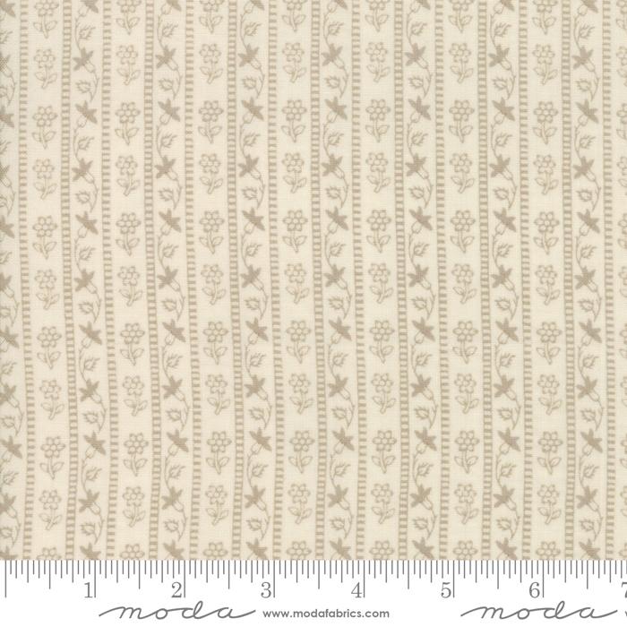 Moda French General Chafarcani 1385414 Renoncule Stripe roche pearl