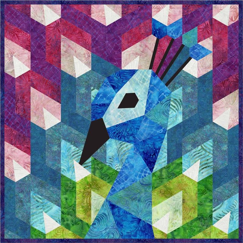 Violet Craft: DER PFAU, English Paper Piecing