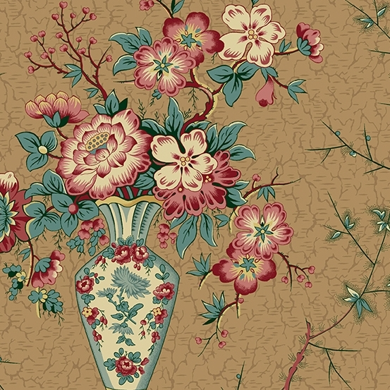 Andover, Di Ford-Hall, Annes English Scrapbook-Vase Teal 9529N