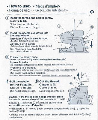 Einfädler - Clover desk needle threader
