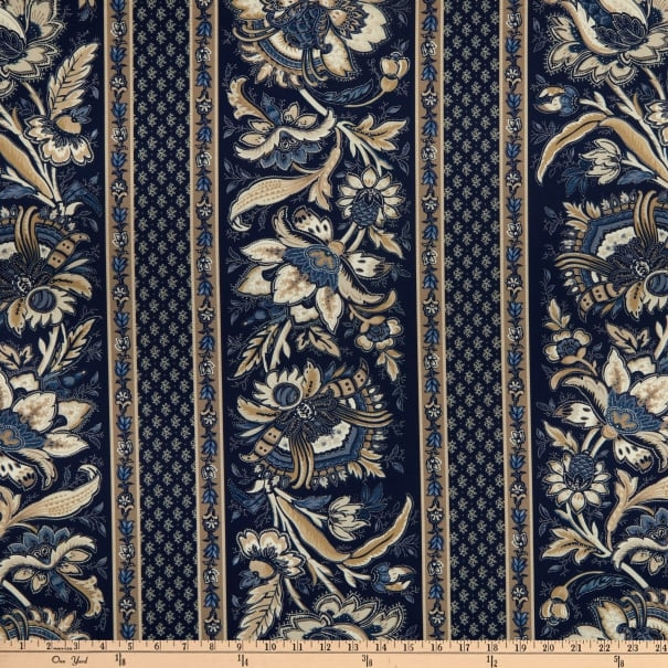 Marcus Fabrics - Bordüre Paula Barnes Mood in Blue R22-8480 0525