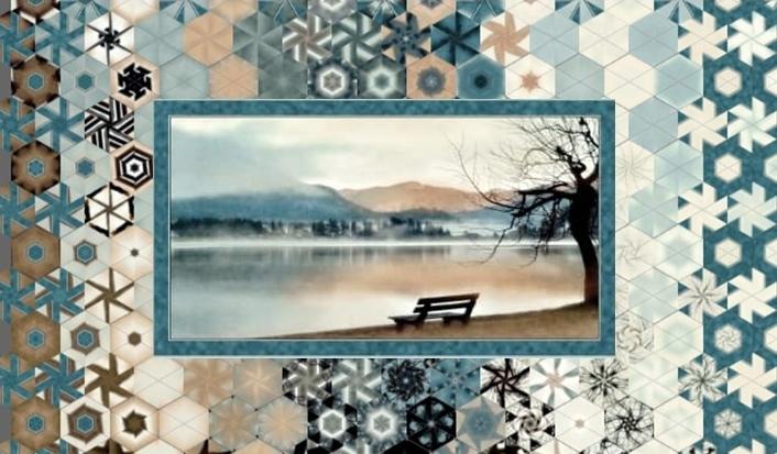 Stoffpaket: 7 Panels Lake Panel blue von Artworks