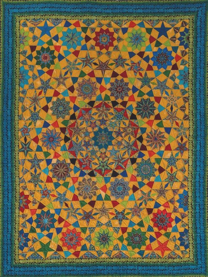 Komplettsatz Paper Pieces für den Quilt Allegria aus Millefiori 4, ganzer Quilt