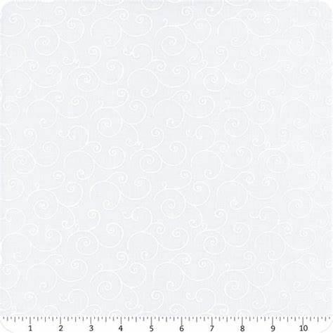 KimberBell Basics White on White Scroll