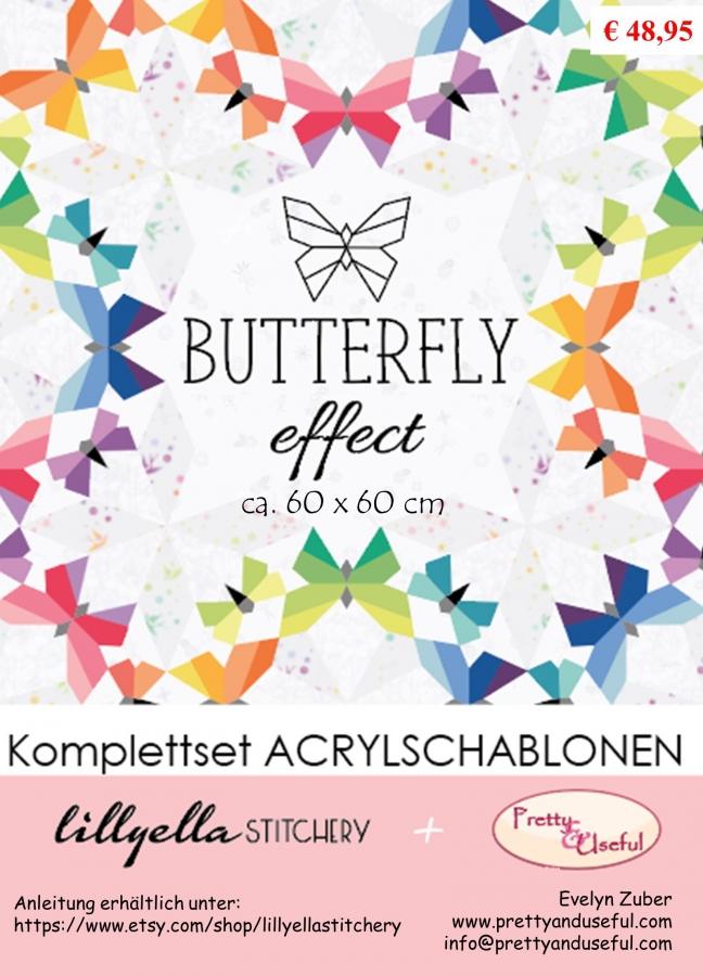 Acrylschablonenset zu BUTTERFLY EFFECT (19-teilig)