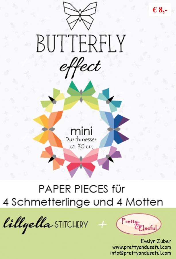 Paper Pieces zu BUTTERFLY EFFECT - moths and butterflies (für jeweils 4 Stück)