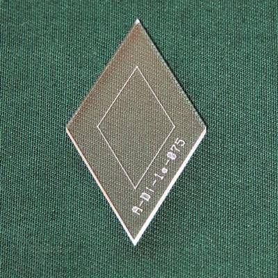 Acrylschablone Diamond, Pretty & Useful Raute 60°