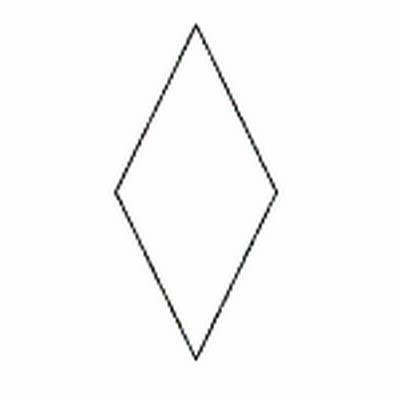 Paper Pieces Diamond, Raute 45° für 8-strahligen Stern