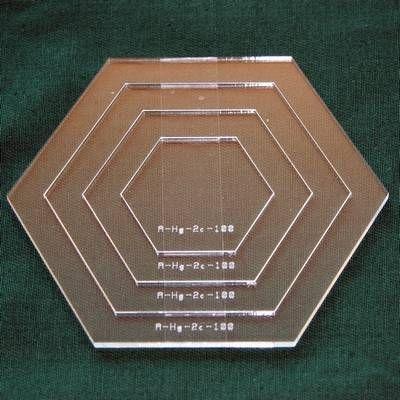 Set Acrylschablonen Hexagon, Pretty & Useful Sechseck 4-fach