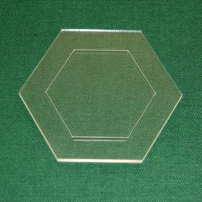 Acrylschablone Hexagon, Pretty & Useful Sechseck
