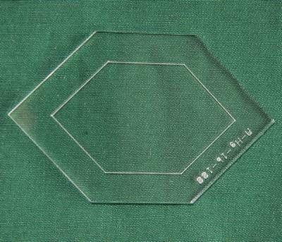 Acrylschablone Elongated Hexagon, Pretty & Useful gestrecktes