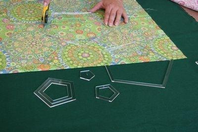 Set Acrylschablonen Hexagon, Pretty & Useful Sechseck 11-fach