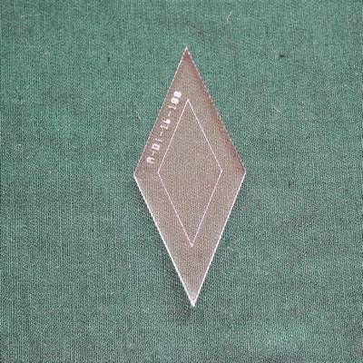 Acrylschablone Diamond, Raute 45° für 8-strahligen Stern