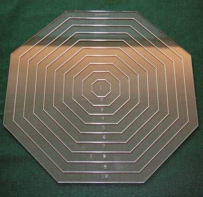 Set Acrylschablonen Octagon, Pretty & Useful Achteck 10-fach