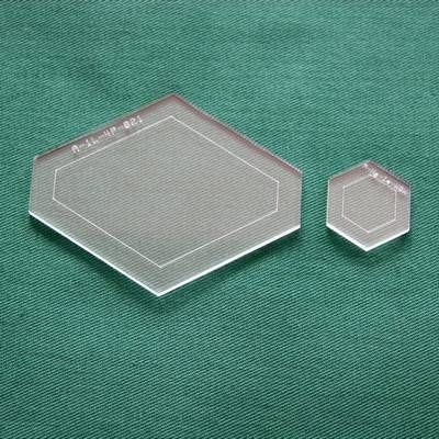 Acrylschablonenset 4-er Auge und Hexagon für Blüte 35 cm