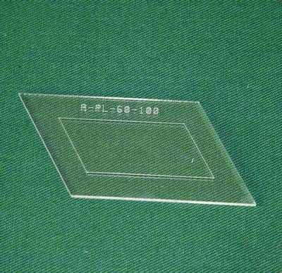Acrylschablone Pretty & Useful Parallelogramm