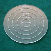 Set Acrylschablonen Circle, Pretty & Useful Kreis 5-fach