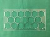 Acrylschablone HipHop Hexies - zum Ausrichten der Hexagons
