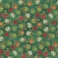 Fabri Quilts - Seasons Greetings - Ornaments green