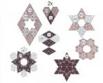 Set Paper Pieces zu Magic Moments 8 Christbaumanhänger