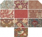 Fat Quarter Package (10 FQ) Morris Antique Red, The Original Morris Co