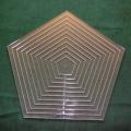 Set Acrylschablonen Pentagon, Pretty & Useful Fünfeck 11-fach
