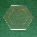 Acrylschablone Hexagon, Pretty & Useful Sechseck