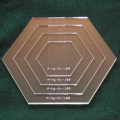 Set Acrylschablonen Hexagon, Pretty & Useful Sechseck 4-fach