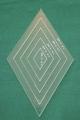 Set Acrylschablonen Diamond, Raute 60°, 5-fach, für 6-strahligen