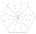 Paper Pieces 3 inch Hexagon in 12 Teilen