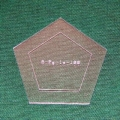 Acrylschablone Pentagon, Pretty & Useful gleichseitiges Fünfeck